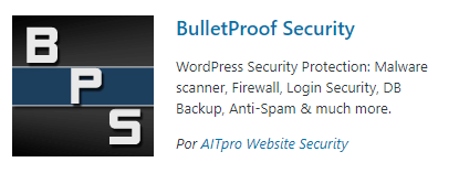 bulletproof security - plugin de seguridad