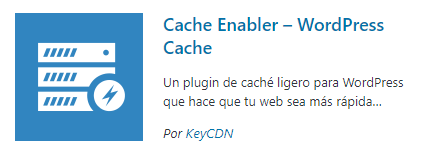 Plugin cache - Cache Enabler