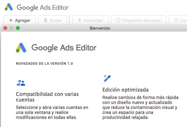 Nuevo Google Ads Editor