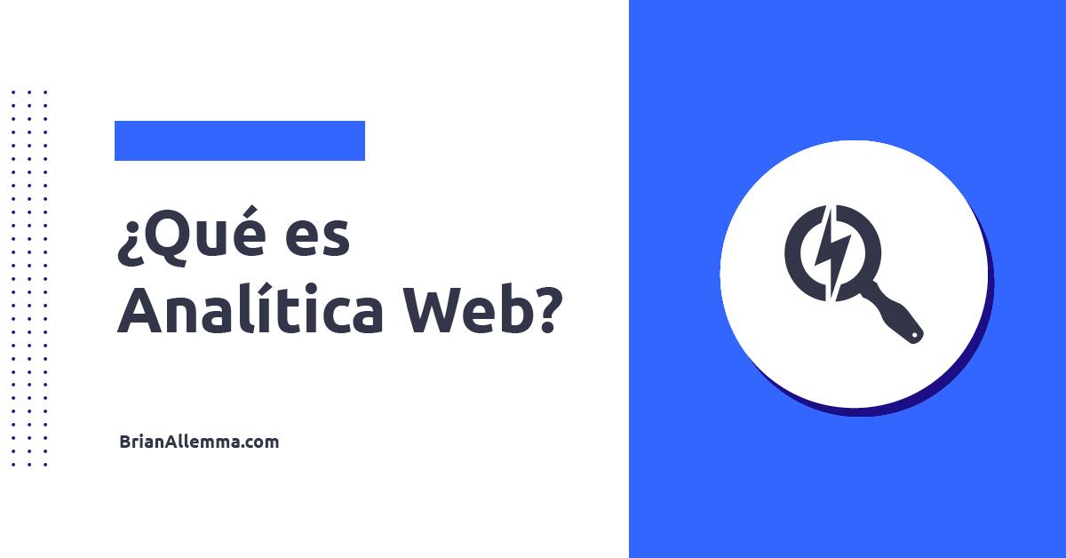Qué es analítica web?