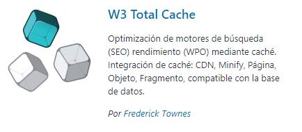 Plugin cache - W3 Total Cache