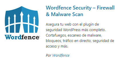 Wordfence Security - plugins de seguridad
