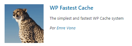Plugin cache - WP Fastest Cache